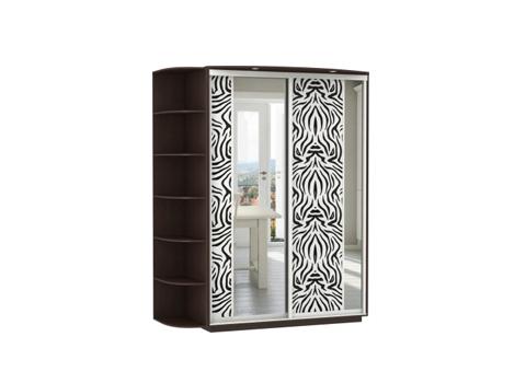 2-х дверный, корпус Венге, двери экокожа, зеркало