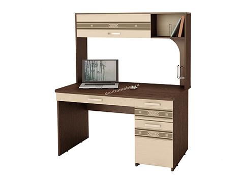 Стол компьютерный Орион 7.10 Венге-Беленый дуб
