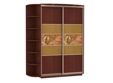 2-х дверный, корпус орех Мария-Луиза, двери ДСП, стекло, фотовставки