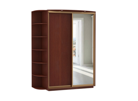 2-х дверный, корпус орех Мария-Луиза, двери зеркало, дсп