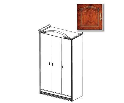 Шкаф 3-х дверный №44 ИМПЕРИЯ