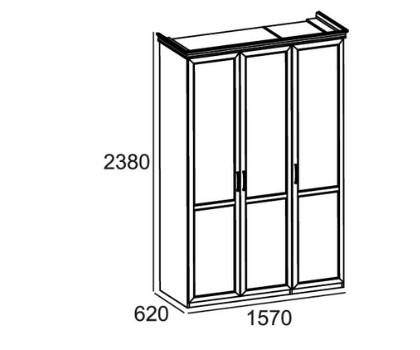 ШКАФ А3108 3-х дверный