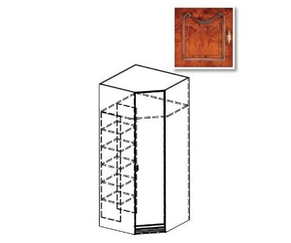 Шкаф угловой №47 ПАРИЖ с доп.опцией (пенал)