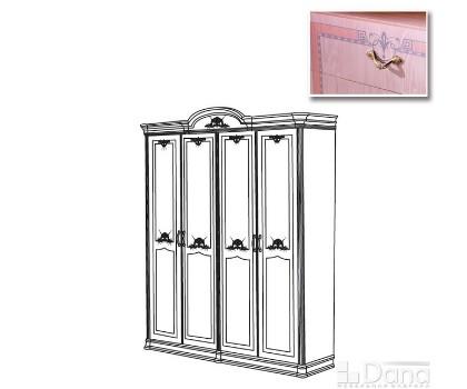 Шкаф ДЕКАПЕ 4-х дверный без зеркал (Серия №3 ДЕКАПЕ)