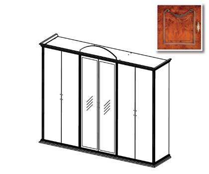 Шкаф РАИС 6-и дверный с 2-я зеркалами (Серия №4)