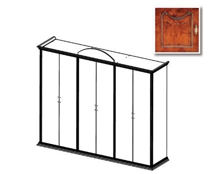 Шкаф РАИС 6-и дверный без зеркал (Серия №4)
