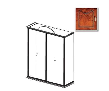Шкаф РАИС 4-х дверный без зеркал (Серия №4)