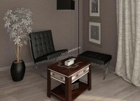 Стол журнальный Агат 24.10 Венге-Синга крем Image 0