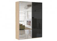 2-х дверный зеркало/стекло черное Image 0