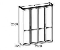 ШКАФ А3109 4-х дверный Image 1